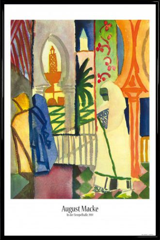 august macke poster kunststoff rahmen schwarz 91x61cm ah1wc ebay. Black Bedroom Furniture Sets. Home Design Ideas