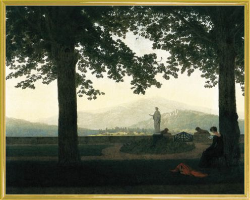 caspar david friedrich gartenterrasse 1811 kunstdrucke online im shop von 1art1 kaufen. Black Bedroom Furniture Sets. Home Design Ideas