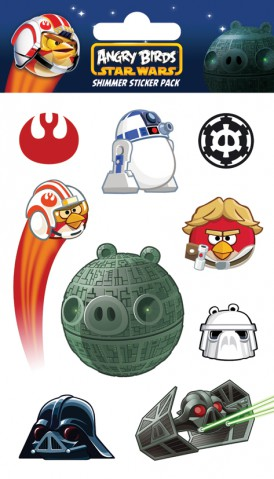 Angry Birds - Star Wars Falcon, Shimmer Sticker Pack