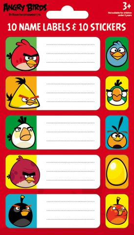 Angry Birds - Birds And Pigs, 10 Stickers