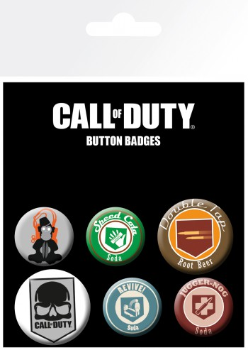 Call Of Duty - Mix, 4 X 25mm & 2 X 32mm Buttons