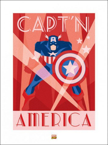 Captain America - Marvel Comics, Art Deco
