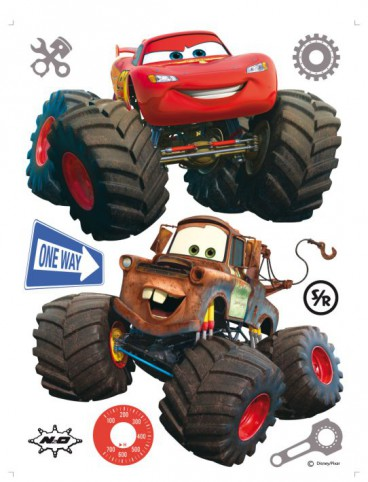 Cars - Toon, Monster Truck Mater And Lightning McQueen