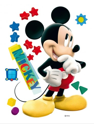 walt disney micky maus big star sticker online im. Black Bedroom Furniture Sets. Home Design Ideas