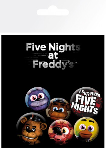 Five Nights at Freddy's - Mix, 4 X 25mm & 2 X 32mm Badges