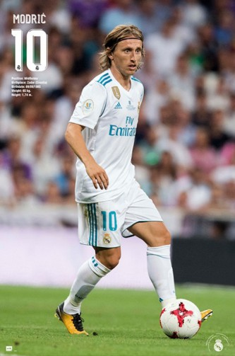 Football - Real Madrid, Luka Modric Action 2017/18