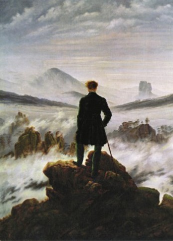 Caspar David Friedrich - Wanderer Above The Sea Of Fog, 1818, 2 Parts