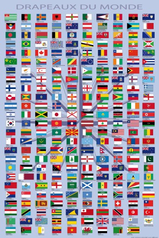 Flags Of The World - Country Names And Capitals, In French