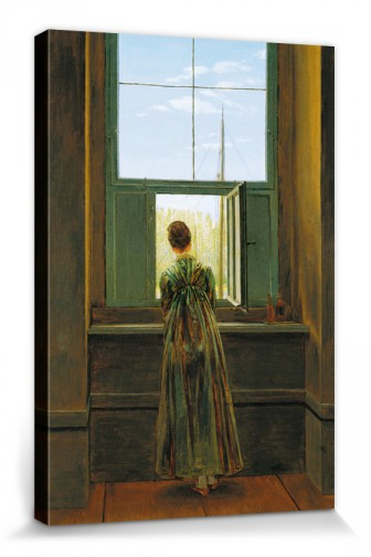 caspar david friedrich frau am fenster 1822 hochwertige leinwanddrucke online im shop von. Black Bedroom Furniture Sets. Home Design Ideas