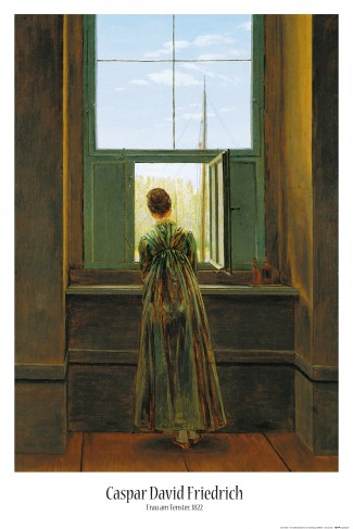 caspar david friedrich frau am fenster 1822 poster online im shop von 1art1 kaufen. Black Bedroom Furniture Sets. Home Design Ideas