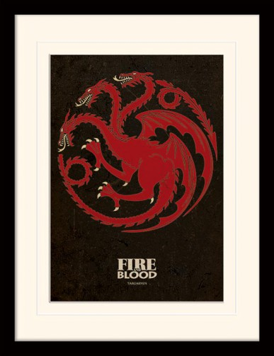 Game Of Thrones - House Targaryen, Crest, Fire And Blood