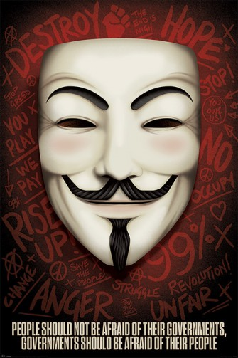 Guy Fawkes Masken - Governments Should Be Afraid Of Their People