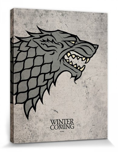 Game Of Thrones - House Stark, Crest, Winter Is Coming