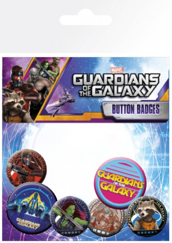 Guardians Of The Galaxy - Characters, 4 X 25mm & 2 X 32mm Badges