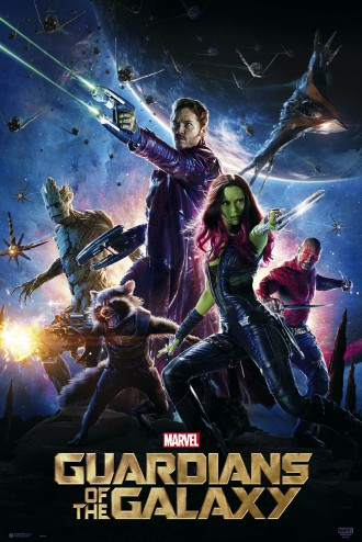 Guardians Of The Galaxy - Gamora, Star-Lord, Nebula, Rocket Raccoon, Groot Und Drax Der Zerstörer, Filmplakat