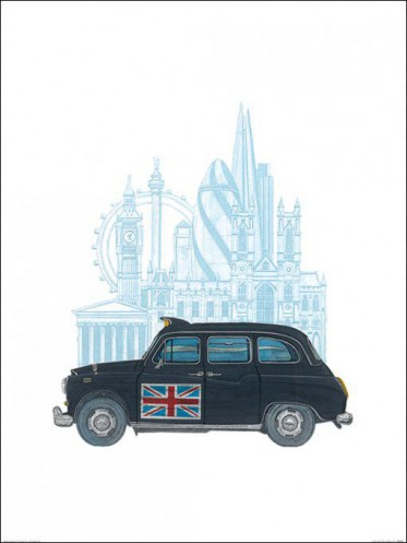 londres taxi reproductions acheter des posters sur le site de 1art1. Black Bedroom Furniture Sets. Home Design Ideas