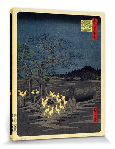 Utagawa Hiroshige - Fox Fires On New Year´s Eve At The Changing Tree In Oji
