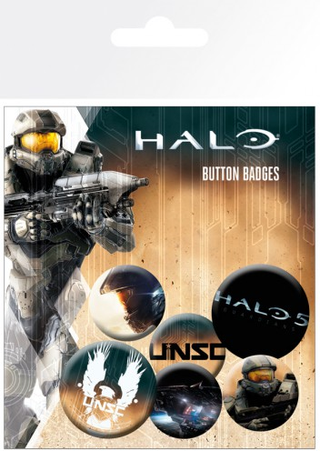 Halo - 5, UNSC, 4 X 25mm & 2 X 32mm Badges
