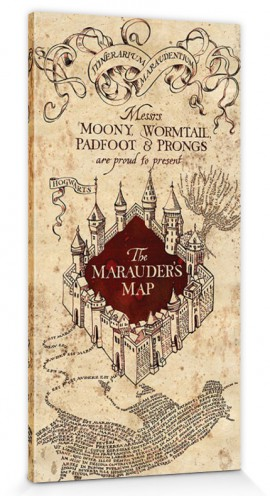 Harry Potter - The Marauder's Map Of Hogwarts