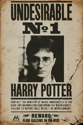 harry potter undesirable no 1 poster online im shop von 1art1 kaufen. Black Bedroom Furniture Sets. Home Design Ideas