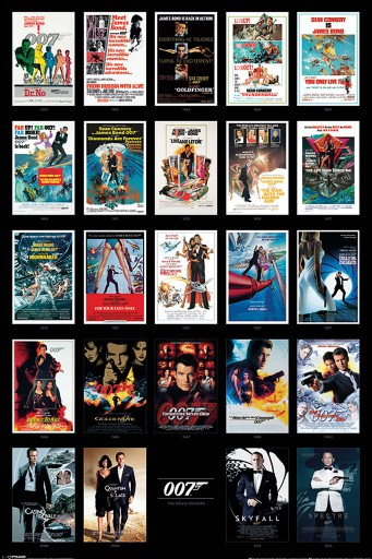 James Bond 007 - Collection Of Movie Posters From Dr No To Spectre