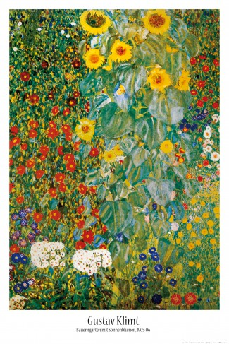 Gustav Klimt - Cottage Garden With Sunflowers, 1905-06