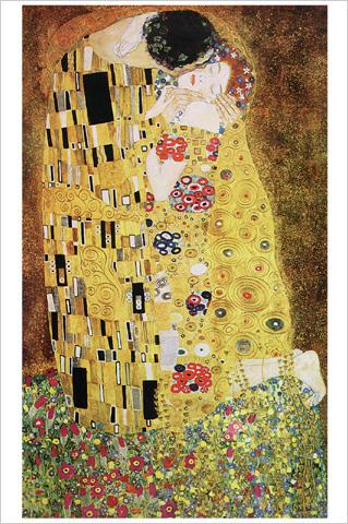 gustav klimt der kuss 1908 kunstdrucke online im shop von 1art1 kaufen. Black Bedroom Furniture Sets. Home Design Ideas