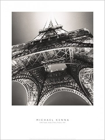 tour eiffel tude 3 paris 1987 michael kenna reproductions acheter des posters sur le. Black Bedroom Furniture Sets. Home Design Ideas