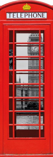 London - Red Telephone Box With Big Ben And Thames, Collage