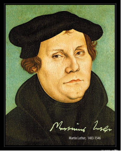 Martin Luther - Portrait, 1529