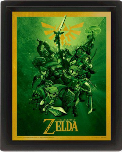 The Legend Of Zelda - Link, Poster 3D Encadré
