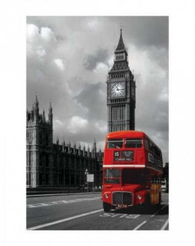 london roter bus big ben westminster kunstdrucke. Black Bedroom Furniture Sets. Home Design Ideas
