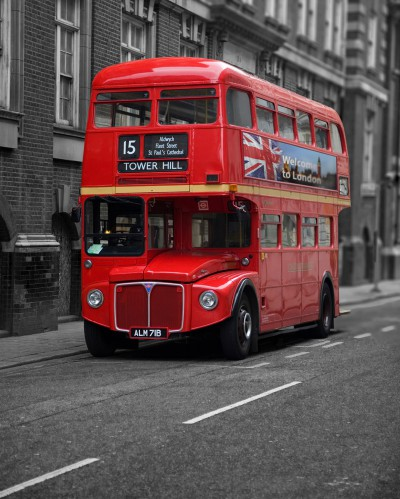 londres bus rouge reproductions acheter des posters sur le site de 1art1. Black Bedroom Furniture Sets. Home Design Ideas