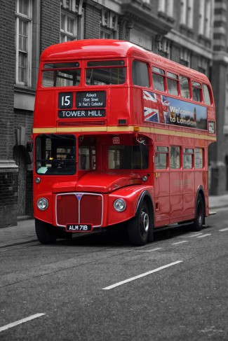 london roter bus poster online im shop von 1art1 kaufen. Black Bedroom Furniture Sets. Home Design Ideas
