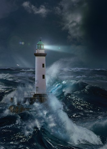 Lighthouses Lighthouse In The Storm By Moonlight 2