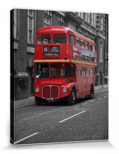 london roter bus hochwertige leinwanddrucke online im shop von 1art1 kaufen. Black Bedroom Furniture Sets. Home Design Ideas