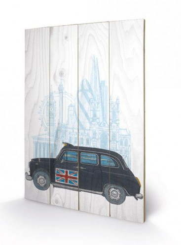 london taxi kunst auf holz online im shop von 1art1. Black Bedroom Furniture Sets. Home Design Ideas