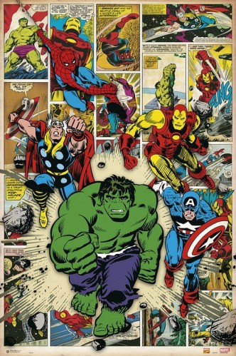 Marvel Comics - Hulk, Iron Man, Thor, Spiderman, Captain America