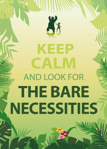 Motivation - Keep Calm And Look For The Bare Necessities, 2-Teilig