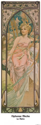 Alphonse Mucha - The Times Of Day, Morning Awakening, 1899