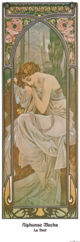 Alphonse Mucha - The Times Of Day, Night's Rest, 1899