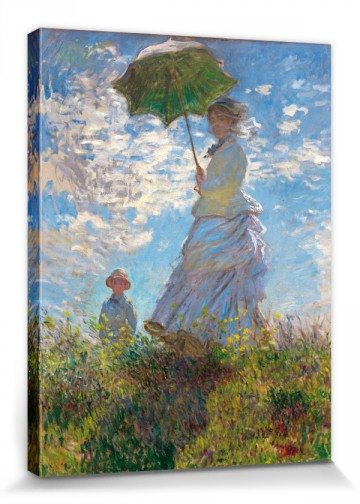Claude Monet - A Woman With Umbrella, Painter`s Wife With Son, 1875