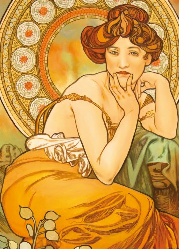 Alphonse Mucha - The Precious Stones, Topaz 1900, 2 Parts