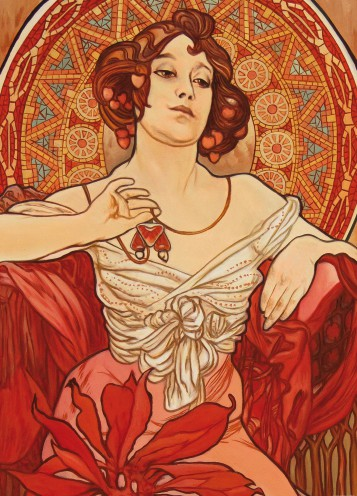 Alphonse Mucha - The Precious Stones, Ruby 1900, 2 Parts