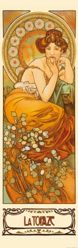 Alphonse Mucha - The Precious Stones, Topaz 1900, 1 Part