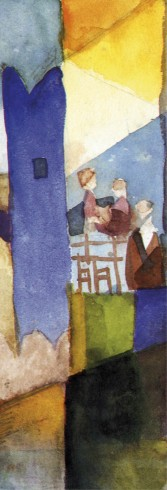 August Macke - Kairouan III, Detail