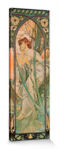 Alphonse Mucha - The Times Of Day, Evening Contemplation, 1899