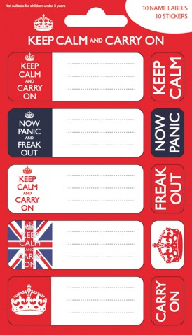 Motivation - Keep Calm And Carry On, 10 Stickers