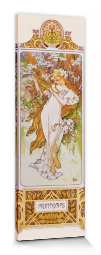 Alphonse Mucha - The Four Seasons II, Spring, 1896