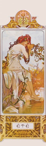 Alphonse Mucha - The Four Seasons II, Summer, 1896